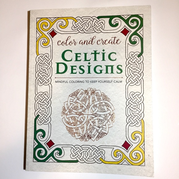 NEW 🇨🇮 Celtic Designs Coloring Book NWT